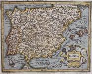 SPAIN  MERCATOR HONDIUS  ATLAS MINOR 1610