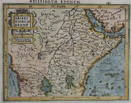 EAST AFRICA   MERCATOR ATLAS MINOR  1610