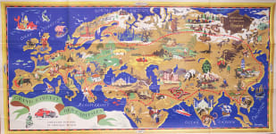 CHOCOLAT MENIER  DECORATIVE TWENTIETH CENTURY MAP