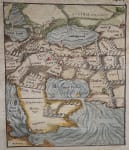 MUNSTER'S EARLY MAP OF ARABIA PERSIAN GULF