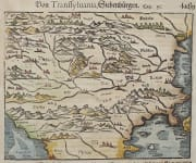MUNSTER'S EARLY MAP OF THE BALKANS   TRANSYLVANIA