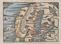MUNSTER'S EARLY MAP OF SWEDEN AND NORWAY