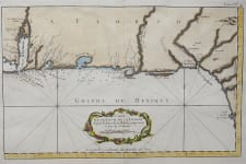 RARE CHART OF ALABAMA  FLORIDA COAST BELLIN