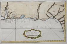RARE CHART OF ALABAMA  FLORIDA COAST BELLIN