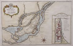 BELLIN'S RARE MAP OF MONTREAL