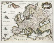 MERIAN'S MAP OF EUROPE