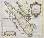BELLIN'S MAP OF SUMATRA  STRAITS OF SINGAPOUR