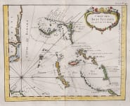 RARE MAP OF THE BAHAMAS AND EAST COAST OF FLORIDA
