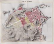 GOOD RARE MAP OF RIO DE JANEIRO  BY DUFOUR