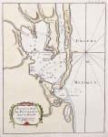 ANTIQUE MAP OF PENSACOLA 1764  BELLIN