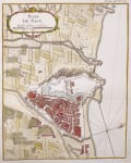 ANTIQUE MAP OF NICE  FRANCE  BELLIN 1764