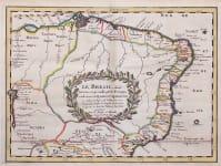 SANSON'S MAP OF BRAZIL