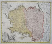 HOMANN'S FOLIO MAP OF BRITANNY