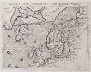 MAGINI'S MAP OF THE NORTH ATLANTIC  1597