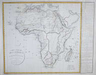 VAUGONDY  DELAMARCHE LARGE FOLIO MAP OF AFRICA