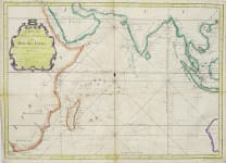 ATTRACTIVE SEA CHART OF THE INDIAN OCEAN