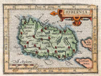SCARCE ORTELIUS  HULSIUS SMALL MAP OF IRELAND