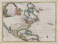 VAN DER AA'S MAP OF NORTH AMERICA