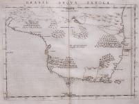 RUSCELLI'S 1561 MAP OF BRAZIL