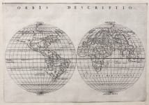 RUSCELLI'S RARE HEMISPHERES  WORLD  MAP 1574