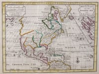 UNCOMMON GRAVIUS MAP OF NORTH AMERICA