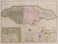 JEFFERYS GREAT MAP OF JAMAICA