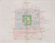 INTERESTING PLAN OF PEKING   BEIJING 1870