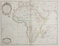 LARGE FOLIO MAP OF AFRICA  DE L'ISLE ..DEZAUCHE