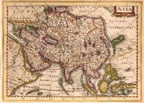 CLOPPENBERG'S SCARCE MAP OF ASIA