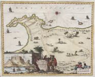 NIEUHOF'S SCARCE MAP OF CAPE OF GOOD HOPE  CAPE TOWN