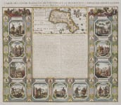 CHATELAIN'S STUNNING &  DECORATIVE MAP AND VIGNETTES OF MADAGASCAR