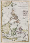 BONNE'S MAP OF PHILIPPINES  BORNEO  JAVA