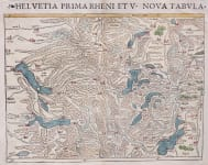MUNSTER   ONE OF EARLIEST OBTAINABLE MAPS OF SWITZERLAND 1542