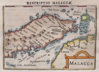 LANGENES BERTIUS MAP OF MALAYSIA  SINGAPORE