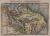 LANGENES UNCOMMON MAP OF SCANDINAVIA