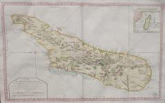 BELLIN LARGE MAP MADAGASCAR  FOR DEPOT DE LA MARINE