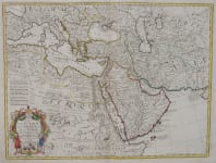 DE L'ISLE MAP OF MIDDLE EAST