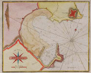 RARE PLAN OF ANTIBES WITH  ENGLISH TEXT C 1750