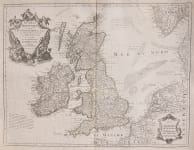 DE L'ISLE MAP OF BRITISH ISLES RE-ISSUED YEAR 3 OF THE REVOLUTION BY DEZAUCHE