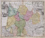 HOMANN MAP OF SOUTH WEST FRANCE   BORDEAUX , DORDOGNE  LOT