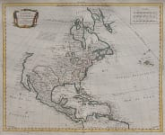 BOURGOIN'SCRARE MAP OF NORTH AMERICA 1766