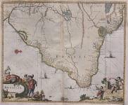 MERIAN'S MAP OF BRAZIL