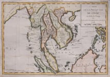 BRIO DE LA TOUR UNCOMMON MAP OF INDO CHINA AND MALAYSIA