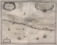 HONDIUS MAP OF CHILE