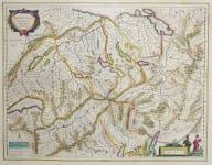 G. BLAEU ISSUE OF MERCATOR MAP OF SWITZERLAND