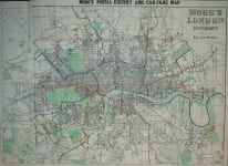 MOGG'S NEW MAP OF LONDON ..ENVIRONS ..CAB FARE  ETC