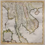 BELLIN MAP OF THAILAND, BURMA, VIETNAM & CAMBODIA