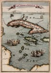 MALLET MAP OF CUBA  JAMAICA