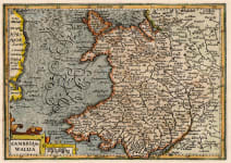 MERCATOR HONDIUS MAP OF WALES
