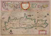 MERCATOR'S MAP OF CRETE & GREEK ISLANDS